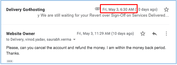 How to Cancel Your Account with Go4Hosting and Get a Refund-image3