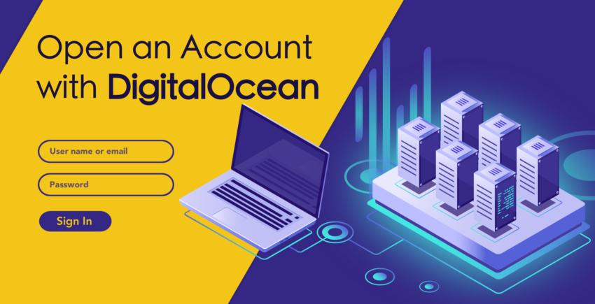 איך ליצור חשבון חדש ב-DigitalOcean