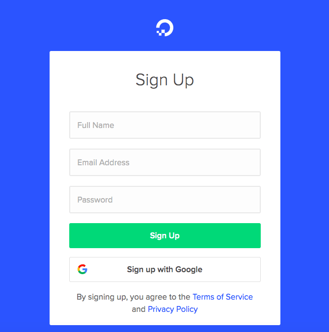 How to Create a New Account with DigitalOcean-image1