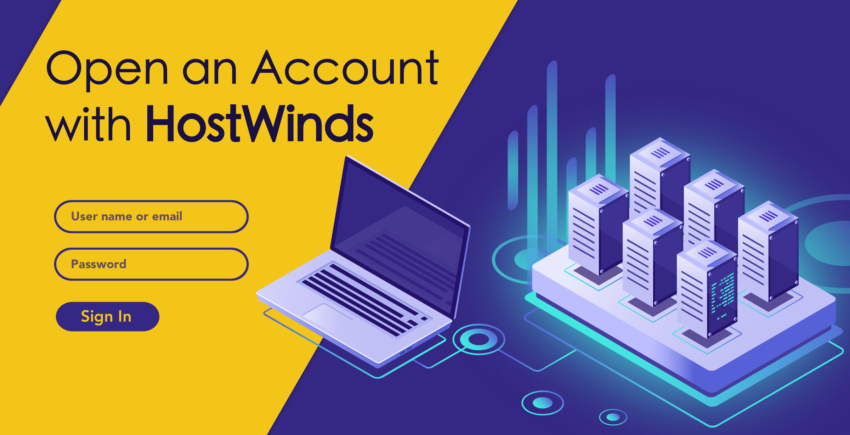 How to Create a New Account with Hostwinds