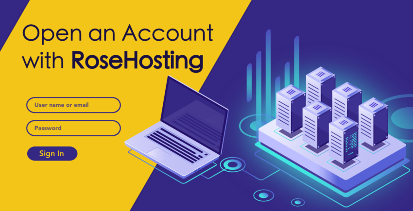 How to Create a New Account with RoseHosting