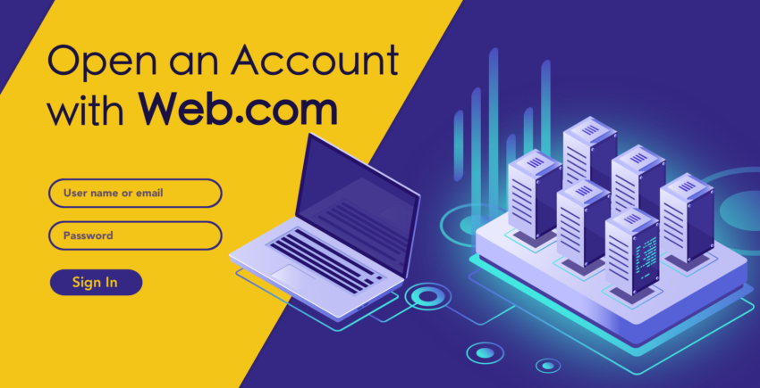 How to Create a New Account with Web.com