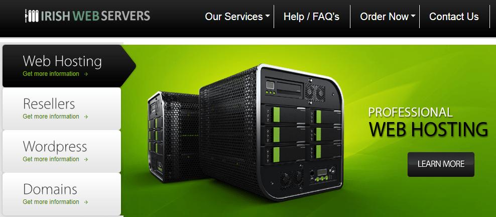 Irish Web Servers hosting plans