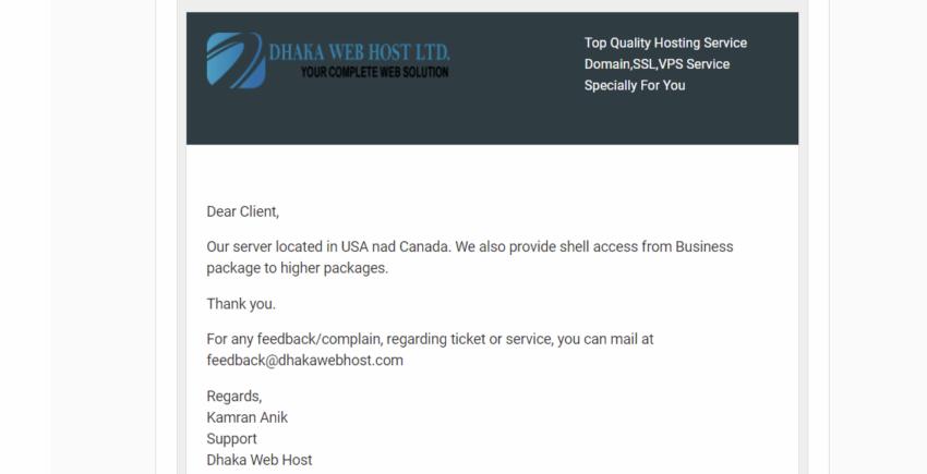 Dhaka Web Host