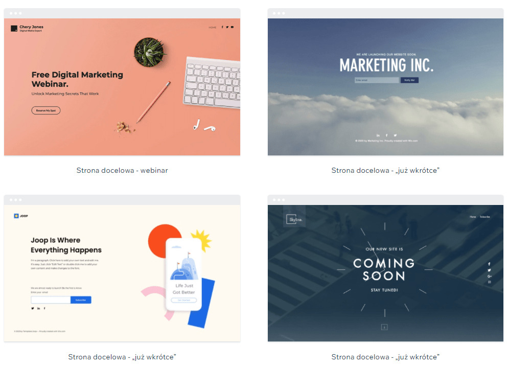 Wix Landing Pages