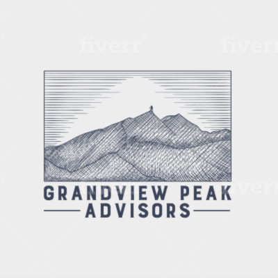 Clothing logo - Grandview Peak Advisors