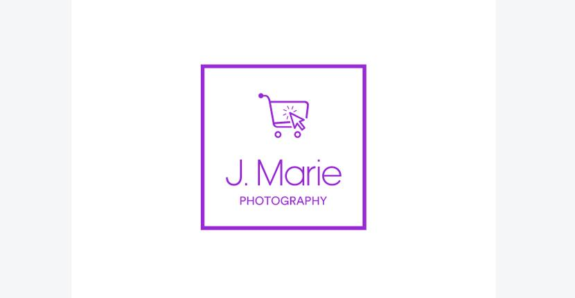 Sample photography logo, modern style - made with Looka