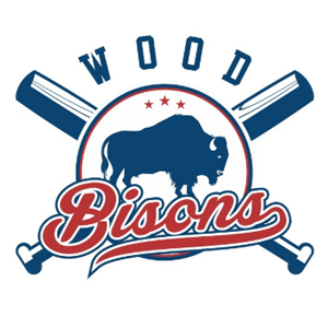 Baseball logo - Wood Bisons