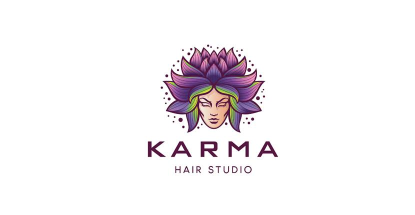 Beauty salon logo - Karma Hair Studio