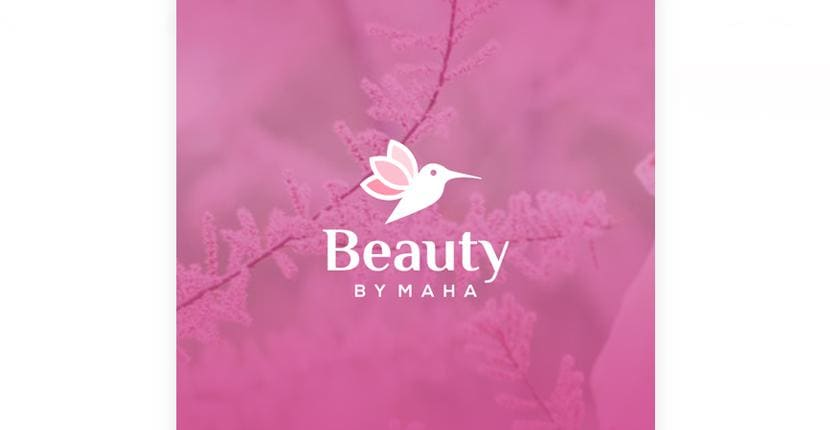 Beauty salon logo - Beauty by Maha