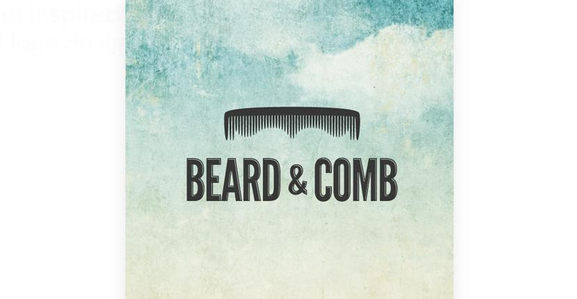 Beauty salon logo - Beard & Comb