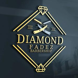 Beauty salon logo - Diamond Fadez Barbershop