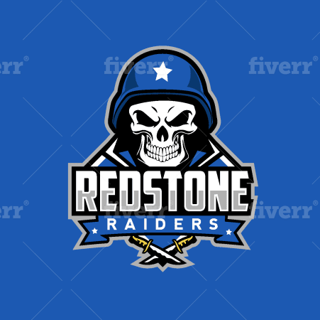 Football team logo - Redstone Raiders