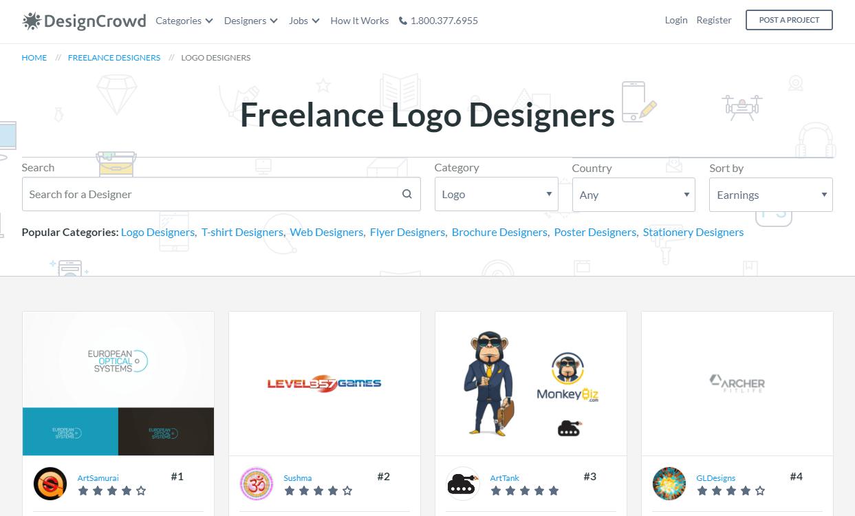 DesignCrowd screenshot
