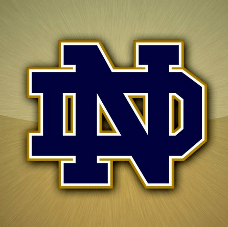 Football team logo - Notre Dame monogram