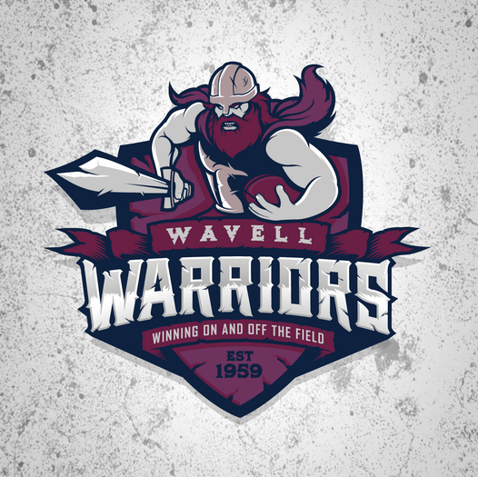 Football team logo - Wavell Warriors