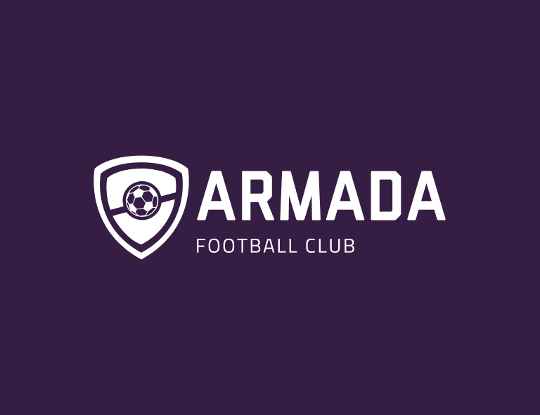 Sample football logo created with Looka - Armada Football Club