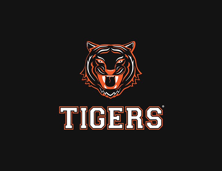 Sample football logo created with Looka - Tigers