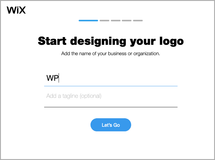 Wix Logo Maker screenshot - Get started