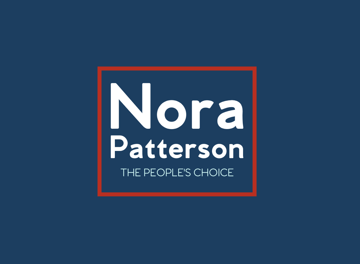Political campaign logo, Nora Patterson - made with Looka