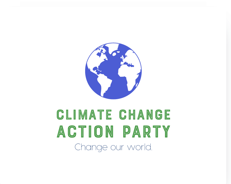 Political campaign logo, Climate Change Action Party - made with Looka