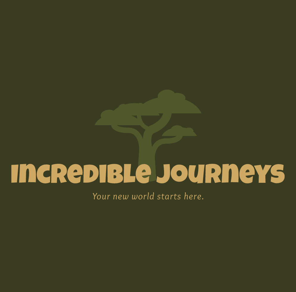 Sample travel agency logo made with Wix Logo Maker - Incredible Journeys