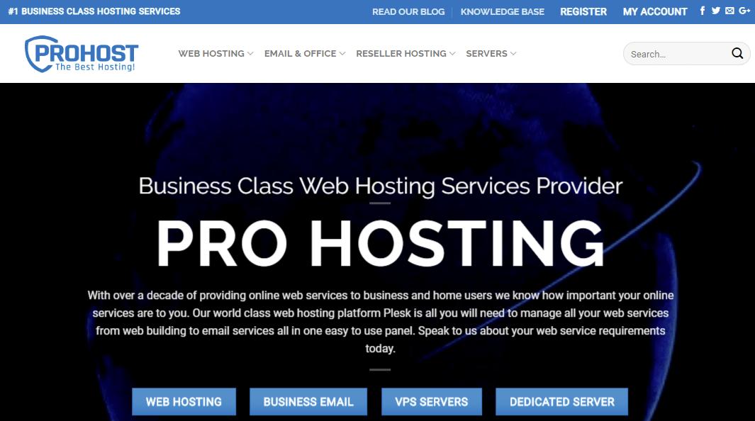 Pro Hosting Internet Services