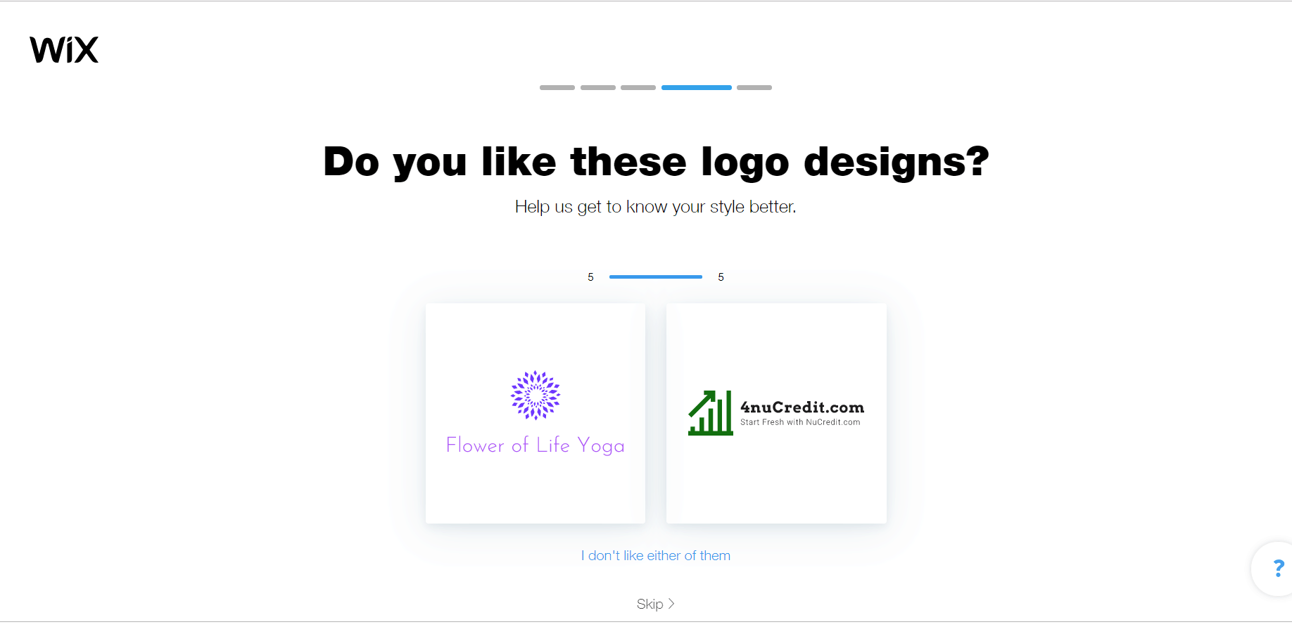 Wix Logo Maker screenshot - Logo styles