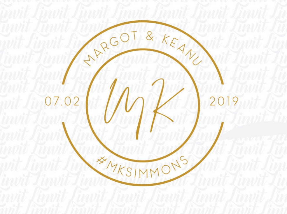 Margot & Keanu wedding logo