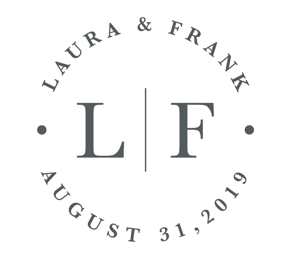 Laura & Frank wedding logo