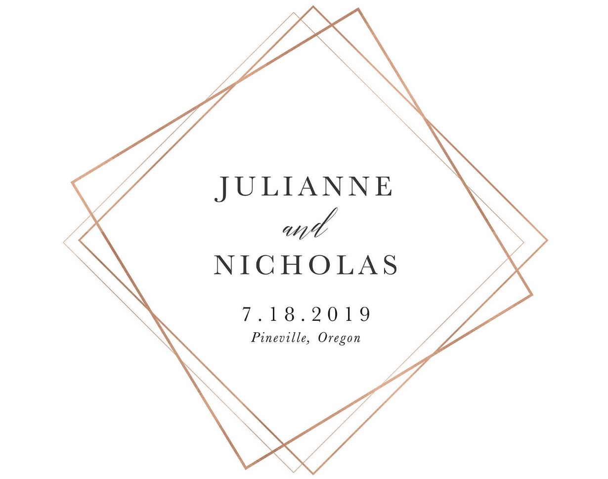 Julianna and Nicholas wedding logo