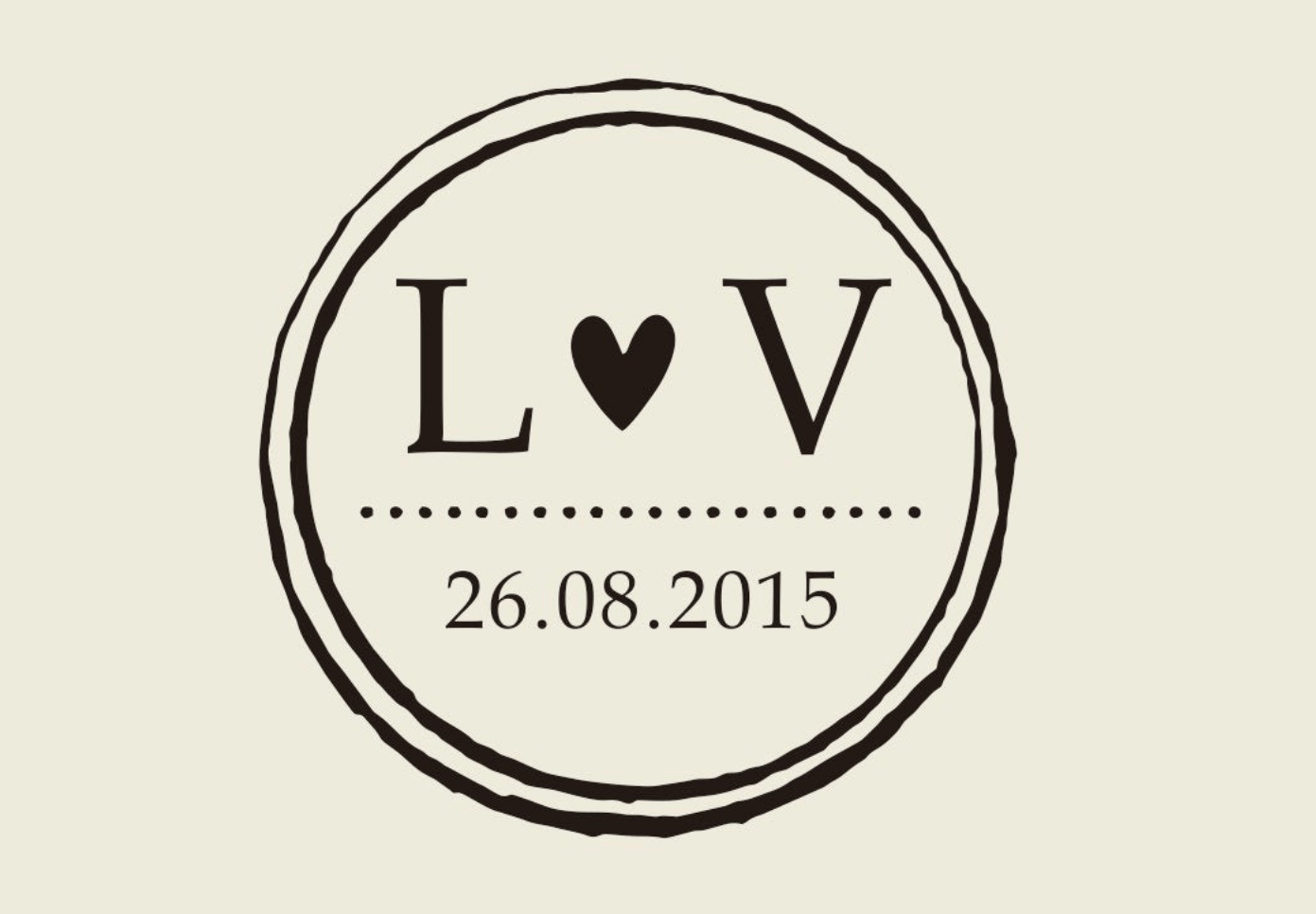LV wedding logo