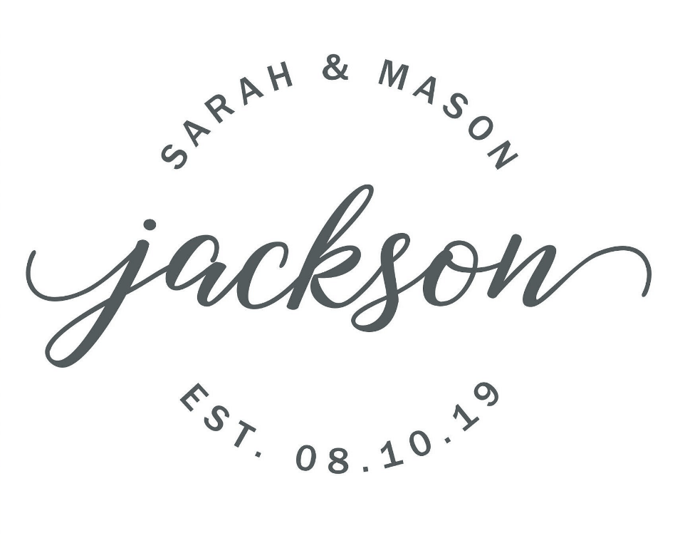 Jackson wedding logo