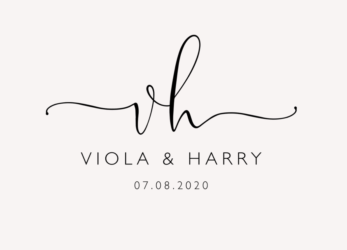 Viola & Harry wedding logo
