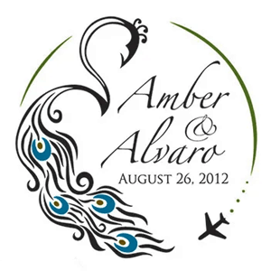 Amber & Alvara Wedding logo