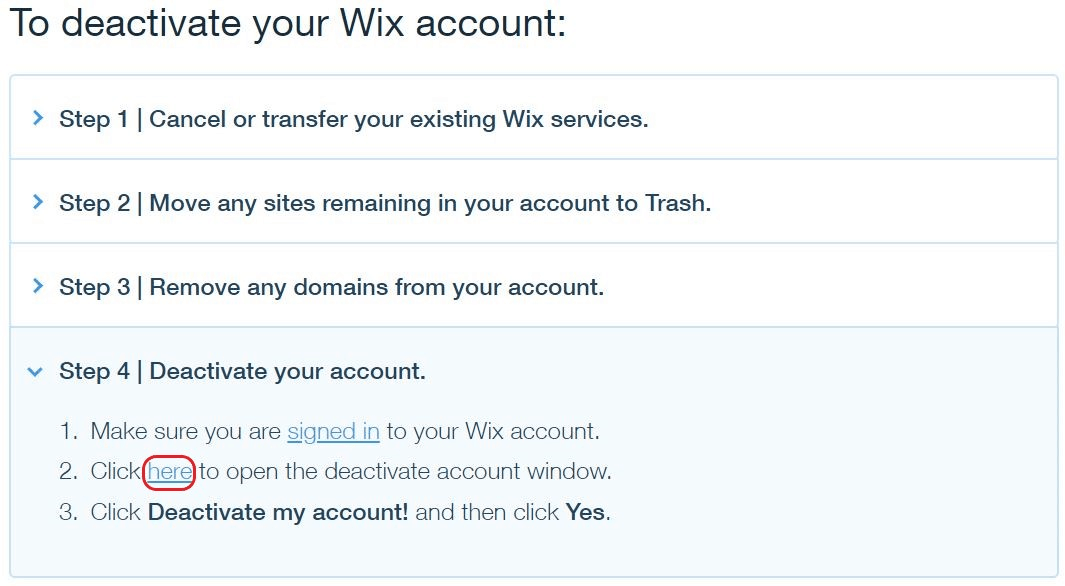 How to Delete a Wix Account & Site - image7