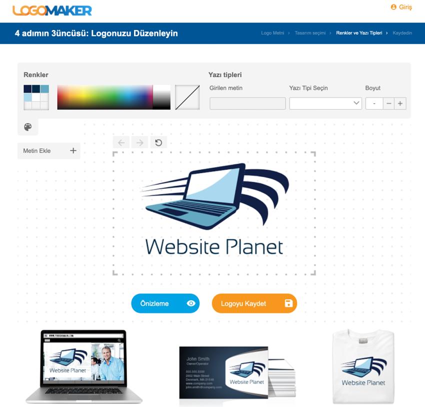 LogoMaker screenshot - logo editor