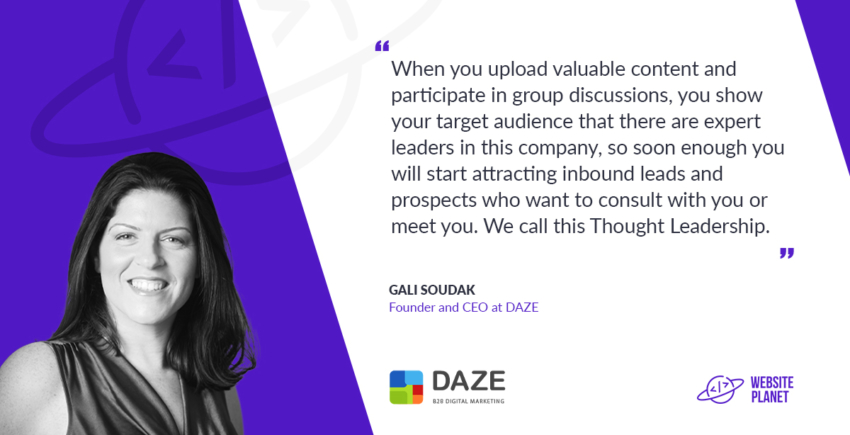 DAZE CEO Gali Soudak B2B digital Marketing