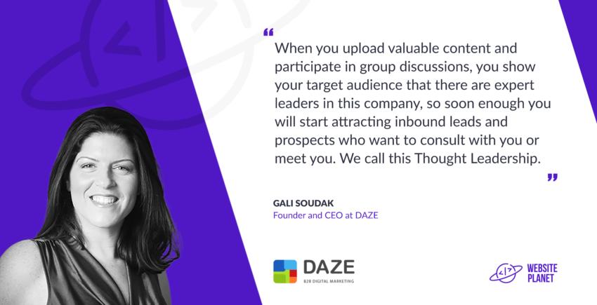DAZE CEO Gali Soudak B2B digital Marketing