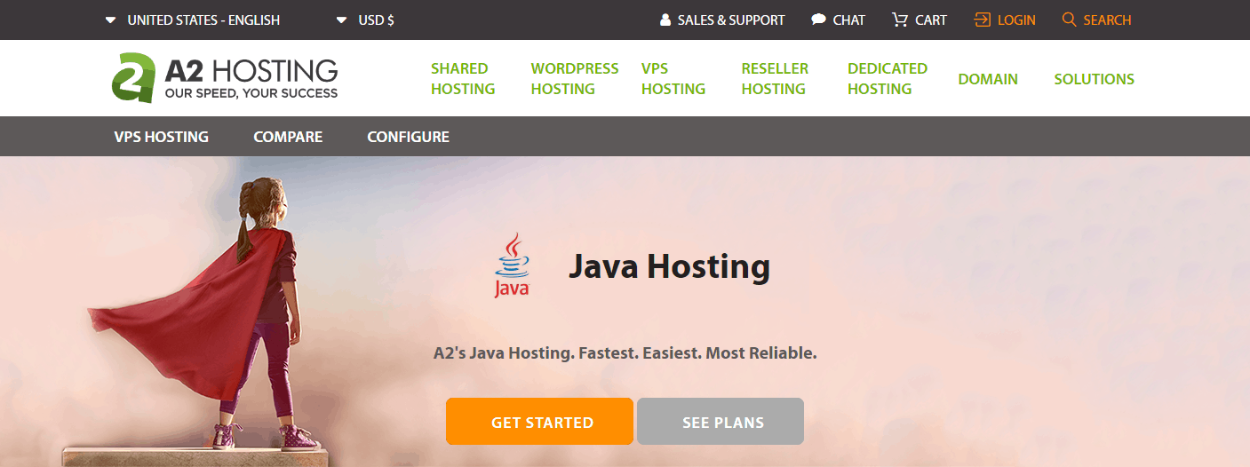 Cheap Java hosting with A2 Hosting