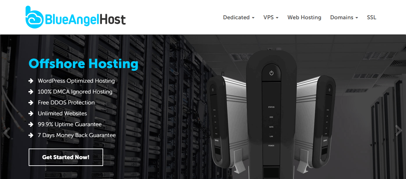 BlueAngelHost Offshore Web Hosting