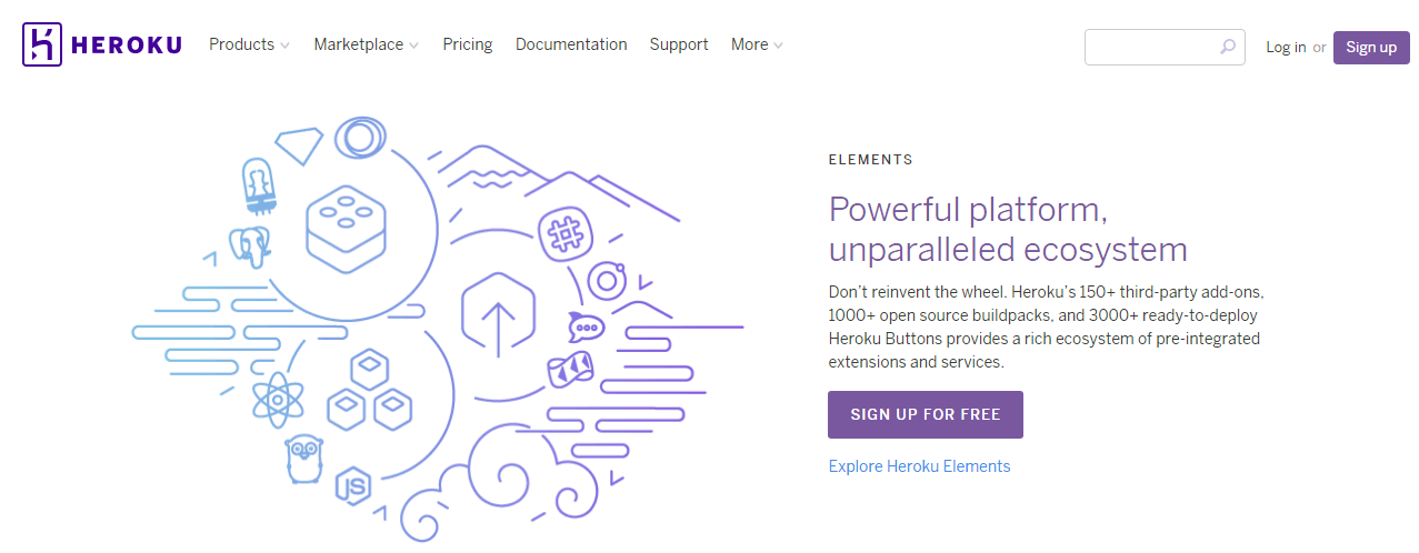 Heroku Website Homepage
