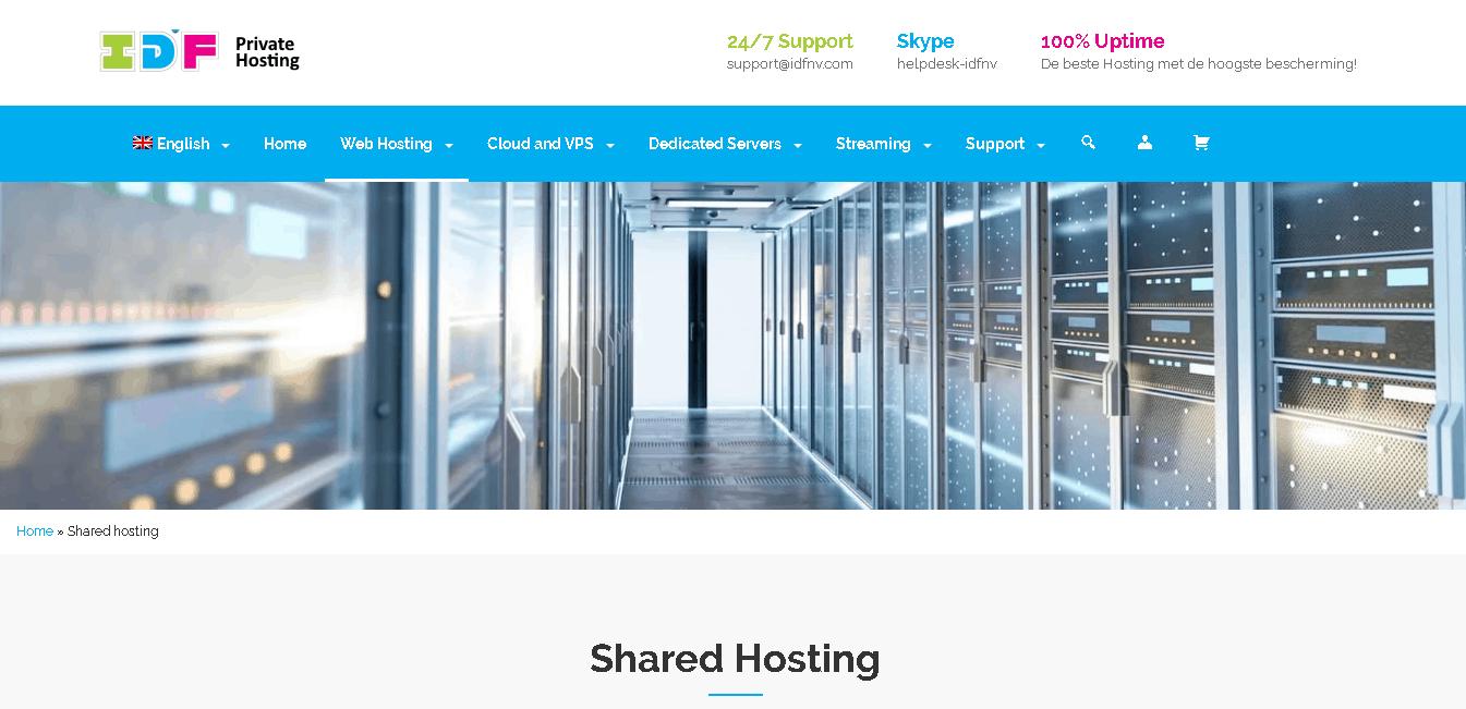 idf webhosting main