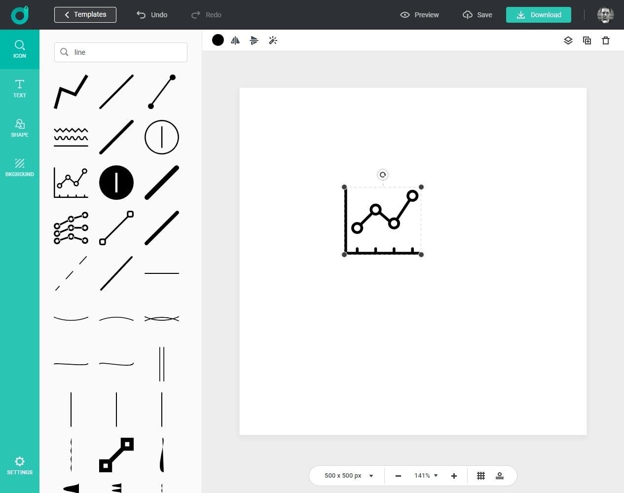 DesignEvo logo editor