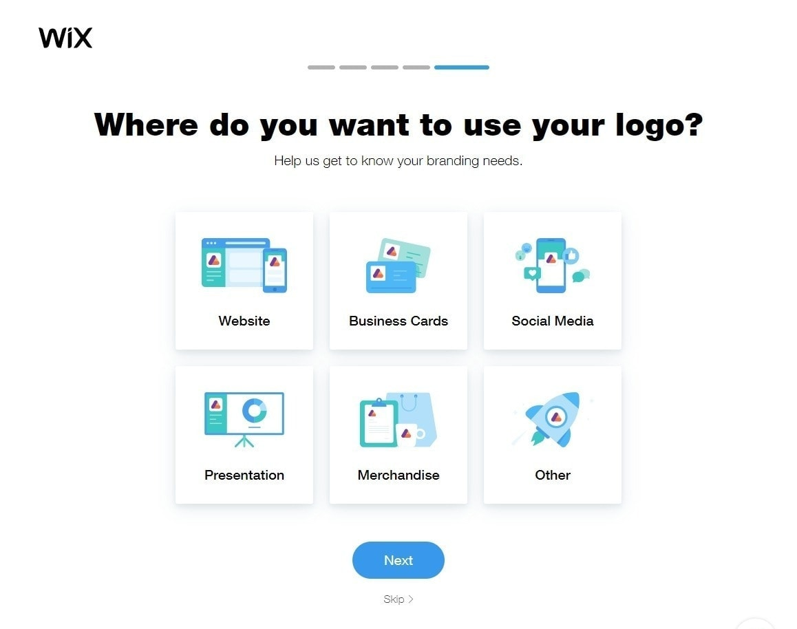 Wix Logo Maker features screenshot