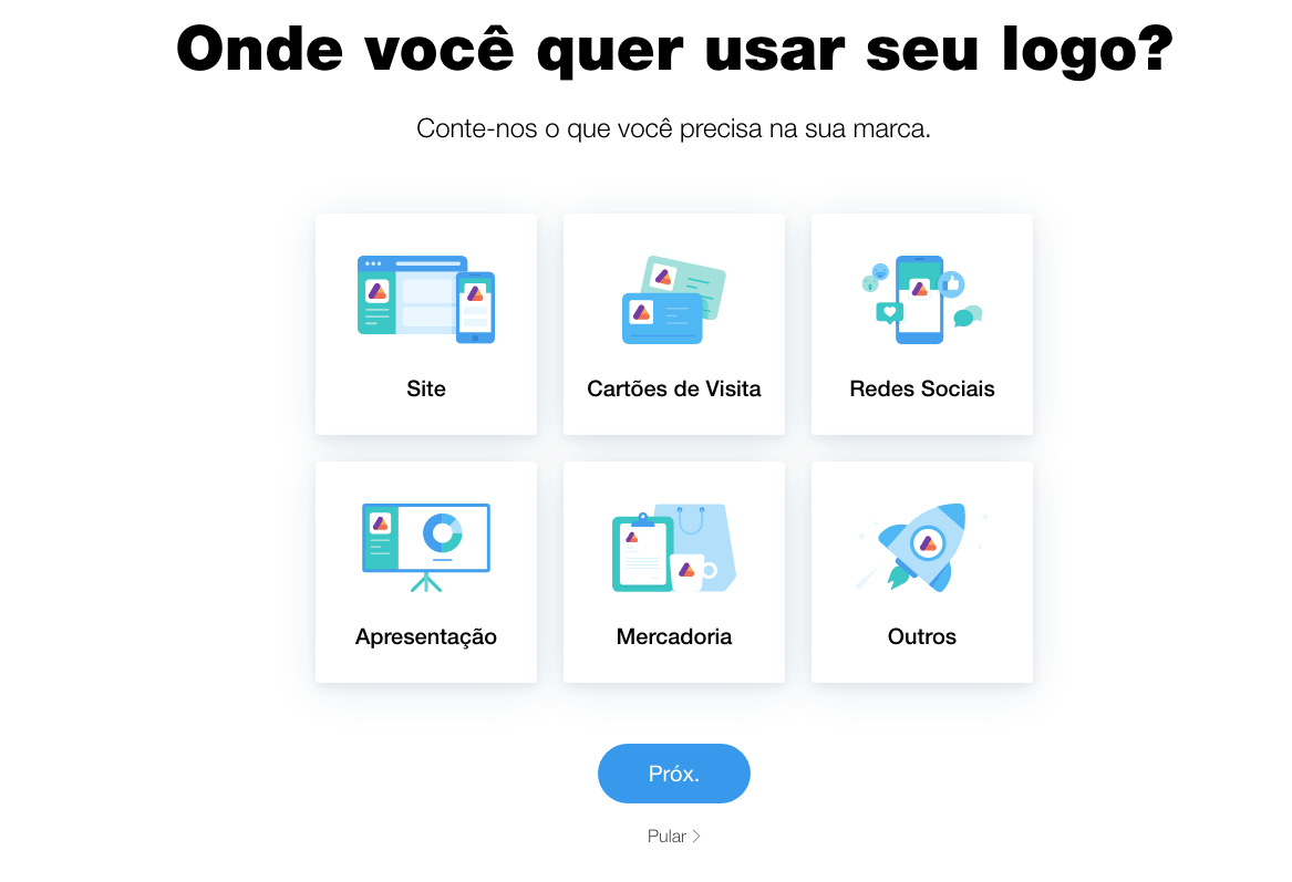 wixlogo features PT BR