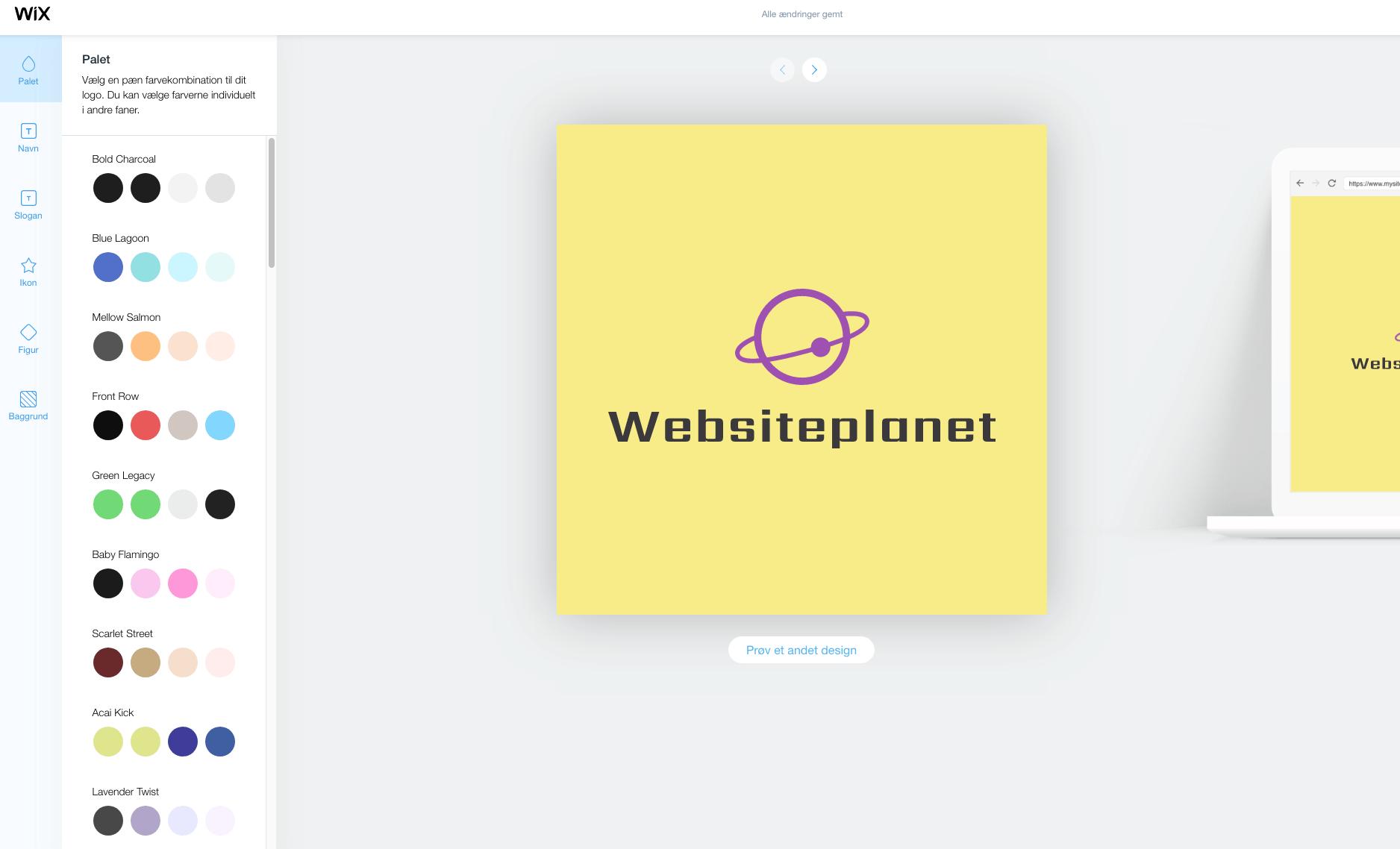 wixlogo palette DA