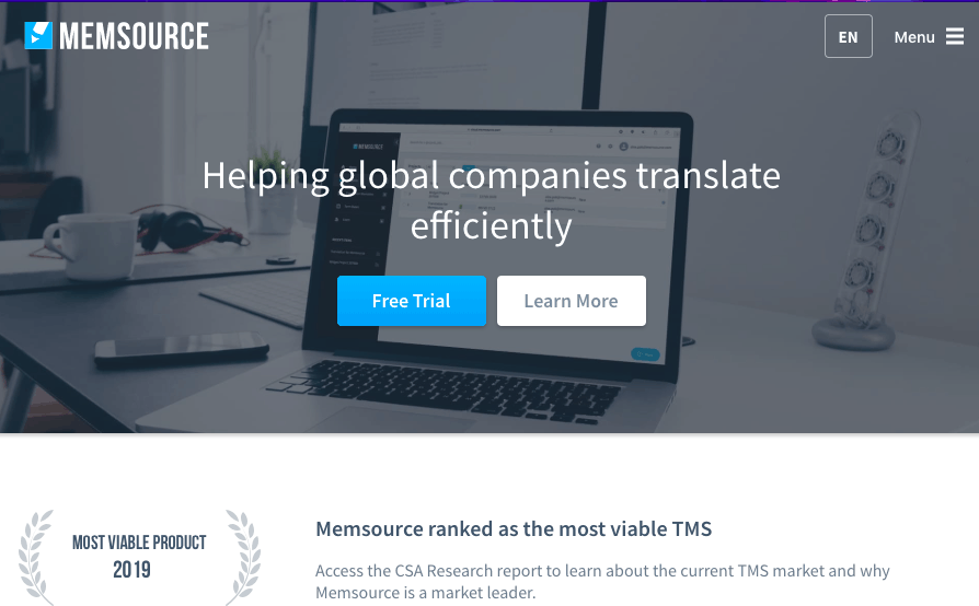 Best Google Translator Toolkit alternatives - Memsource (screenshot)