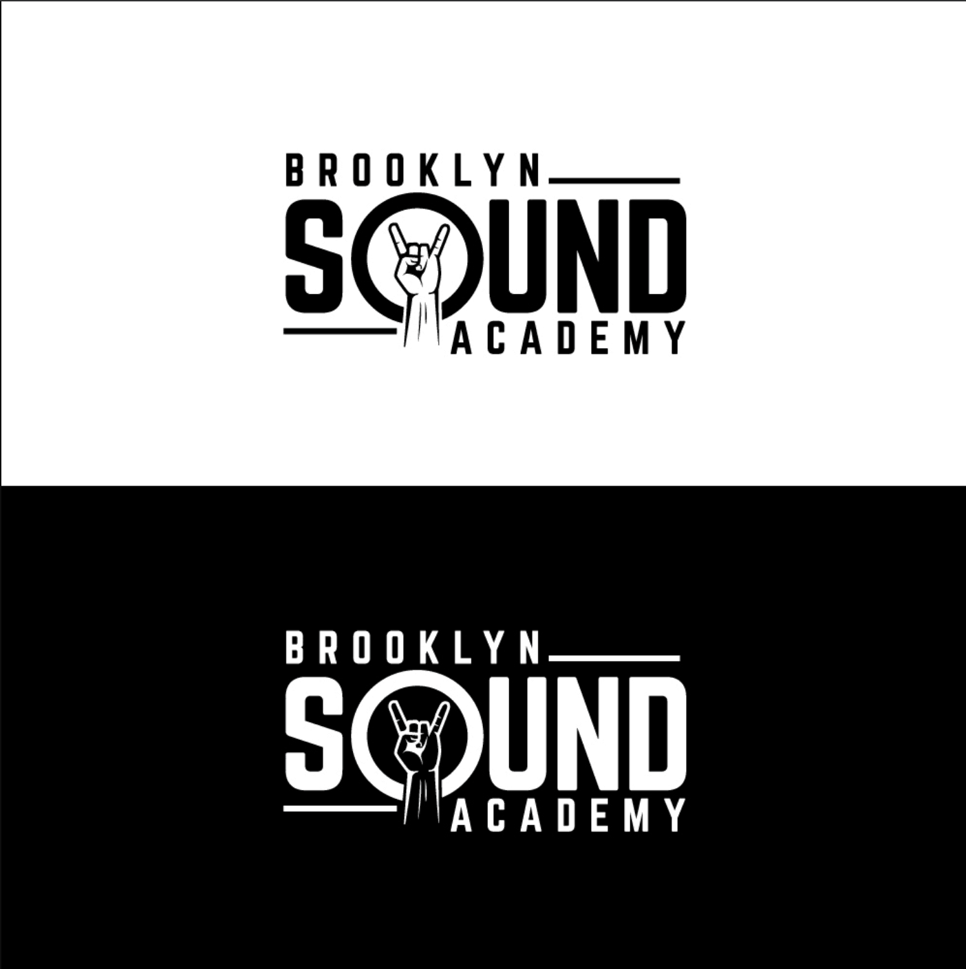 Renderforest alternatives - sample logo made by DesignCrowd designer - Brooklyn Sound Academy