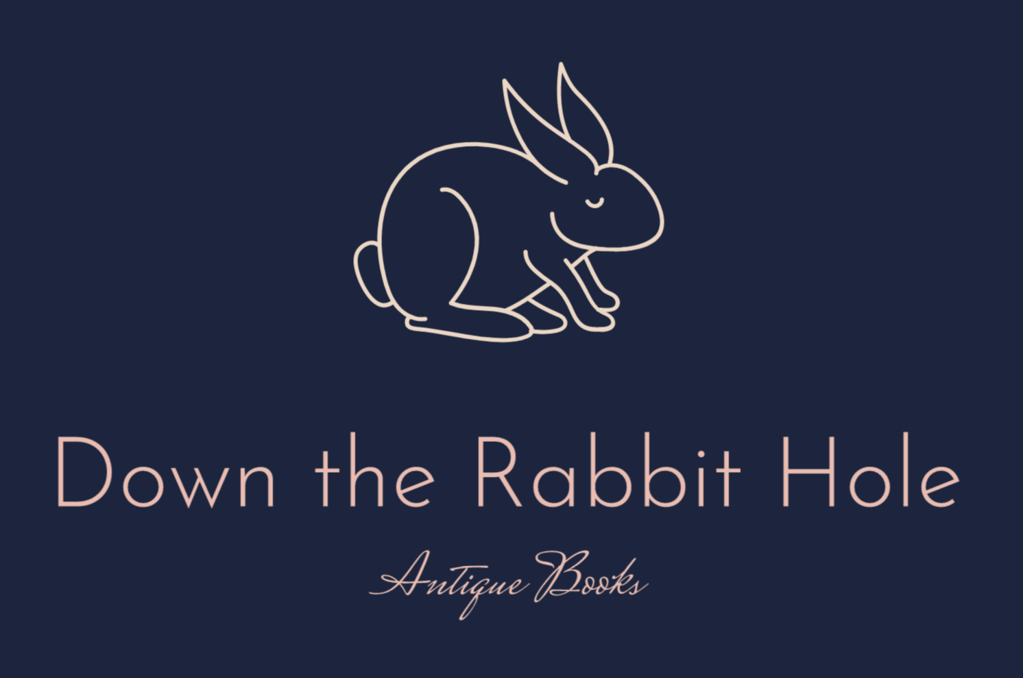 Renderforest alternatives - sample logo made with Wix Logo Maker - Down the Rabbit Hole